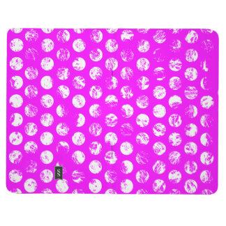 pink  polkadots square journal
