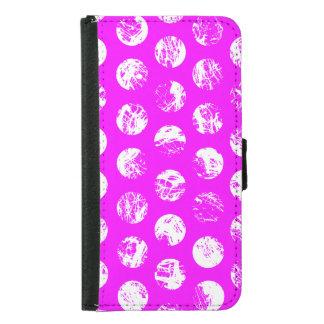 pink  polkadots square samsung galaxy s5 wallet case