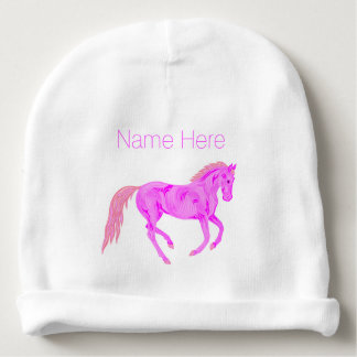 Pink Pony Cute Baby Girl Little Cowgirl Baby Beanie