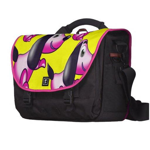 pink pooch laptop messenger bag