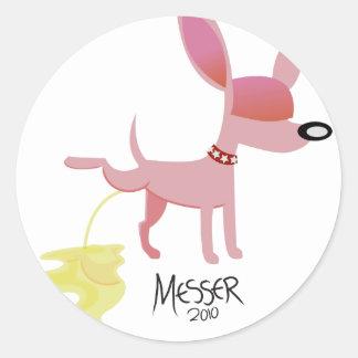 Pink Pooch Round Sticker