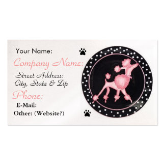 Pink Poodle Business Profile Card Business Card Template