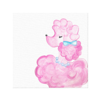 Pink Poodle Canvas