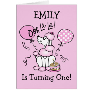 Pink Poodle Custom Birthday Invitation