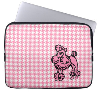 Pink Poodle Laptop Sleeve