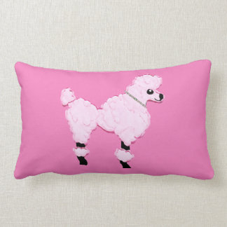 Pink Poodle Lumbar Pillow