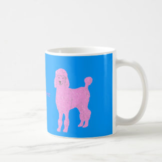 Pink Poodle Mugs add name