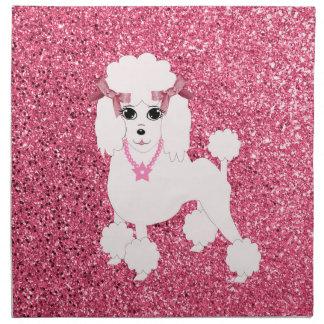 Pink poodle napkin