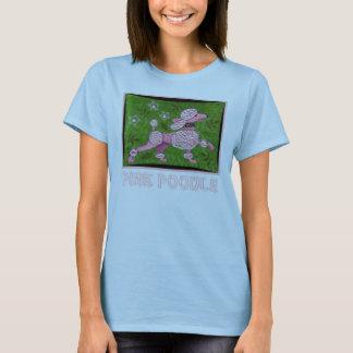 PINK POODLE PARADE - playful poodle t-shirt