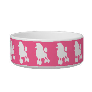 Pink Poodle Pet Bowl