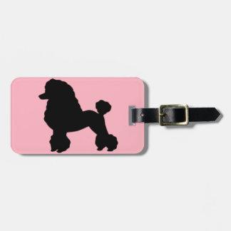 Pink Poodle Skirt Luggage Tag