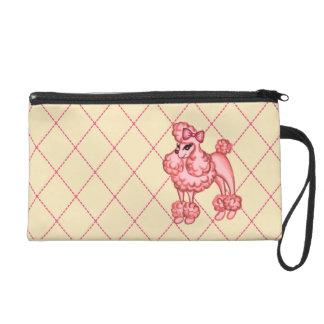 Pink Poodle Wristlet Bag