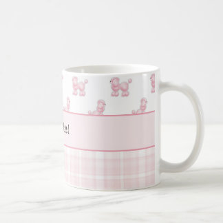 Pink Poodles & Pink Checks Coffee Mug