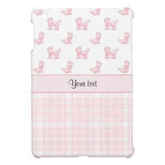 Pink Poodles & Pink Checks iPad Mini Case