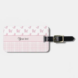 Pink Poodles & Pink Checks Luggage Tag