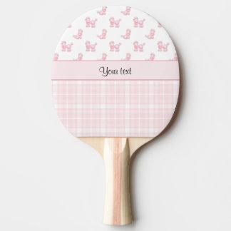 Pink Poodles & Pink Checks Ping-Pong Paddle