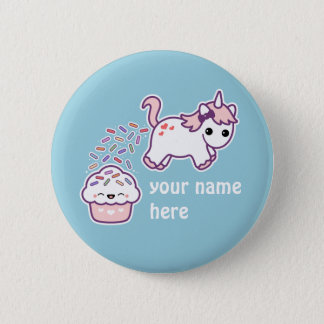 Pink Pooping Unicorn 2 Inch Round Button