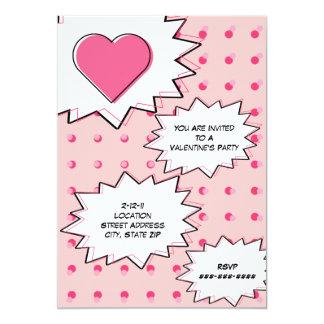 Pink Pop Art Inspired Valentine's Party Invite