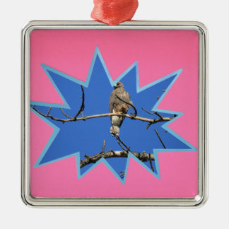 Pink Pop Out Photo Frame Silver-Colored Square Ornament