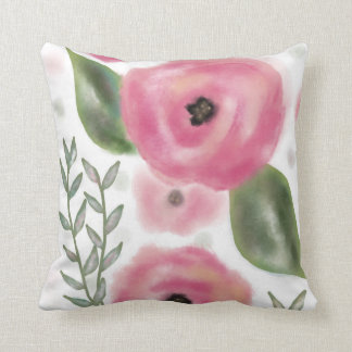 Pink Poppies Pillow