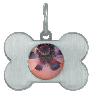 Pink Poppy Center Pet Tag