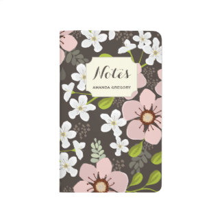 Pink Poppy Garden Personalized Floral Journal