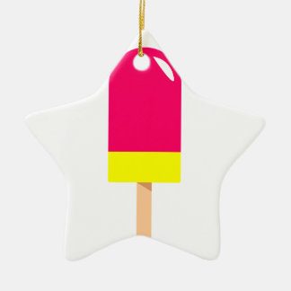 Pink Popsicle Drawing Ceramic Ornament
