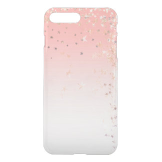 Pink Powder Ombre Blush Gold VIP Glitter Stars iPhone 8 Plus/7 Plus Case