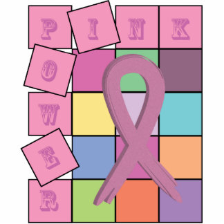 Pink Power Ribbon Breast Cancer Awareness Month gi Photo Sculpture Magnet