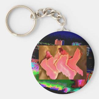 Pink Praise -  Rose Petal Art Basic Round Button Keychain