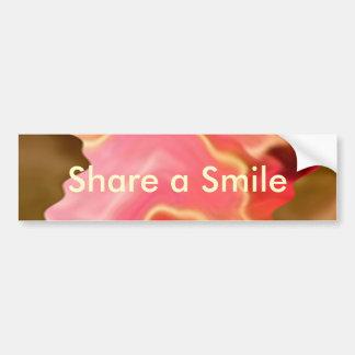 Pink Praise -  Rose Petal Art Bumper Sticker