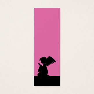 Pink Praying Angel Bookmark Mini Business Card