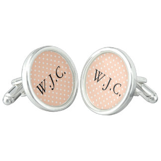 Pink Preppy silver-plated cufflinks