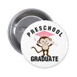Pink Preschool Graduate 2 Inch Round Button