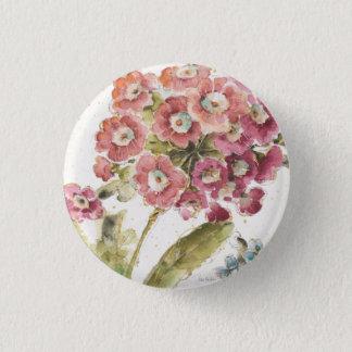 Pink Primrose 1 Inch Round Button