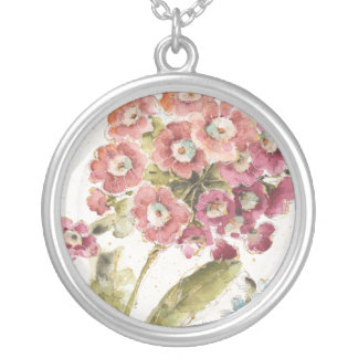 Pink Primrose Silver Plated Necklace