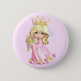 Pink Princess 2 Inch Round Button