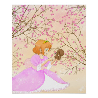 Pink Princess and squirrel poster