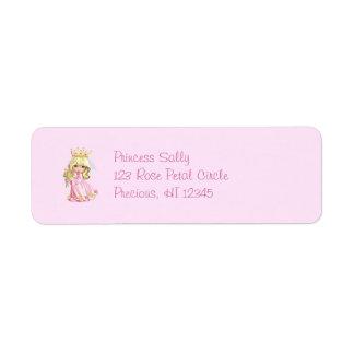 Pink Princess Avery Label