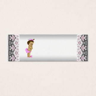 Pink Princess Baby Shower Favor Tags