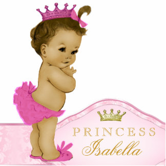 Pink Princess Baby Shower Photo Cut Out