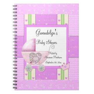 Pink Princess Baby Shower Spiral Notebook