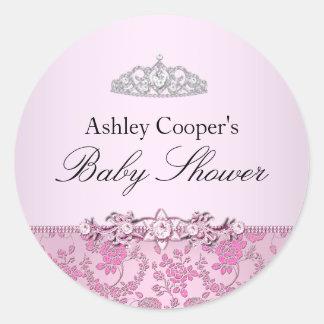 Pink Princess Baby Shower Sticker
