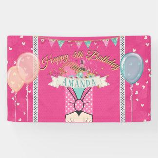 Pink Princess Birthday Banner