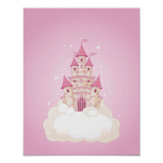 Pink Princess Castle Poster