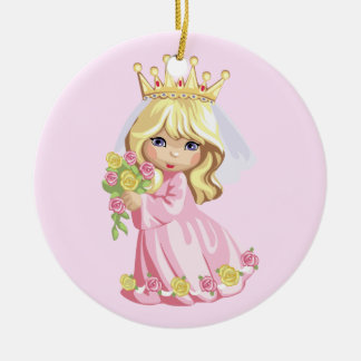 Pink Princess Ceramic Ornament