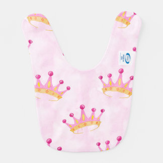 Pink Princess Crown Bib