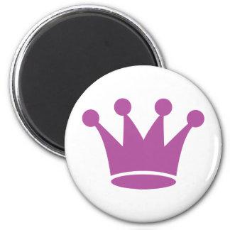 pink princess crown magnet