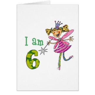 Pink princess fairy greeting cards