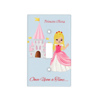 Pink Princess Heart and Castle Light Switch Cover